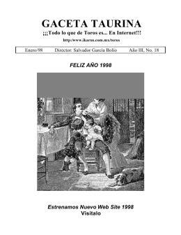 Año III, No. 18 Enero/98