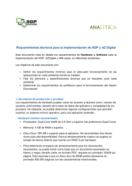 SGP-RFC-012 Requerimientos de Técnicos para