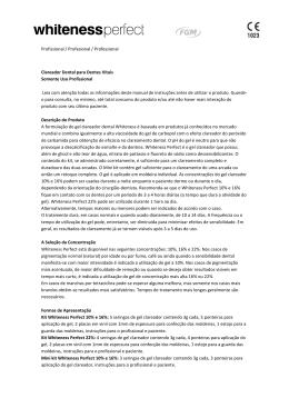 Profissional / Profesional / Professional Clareador Dental para