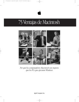 75 Ventajas de Macintosh