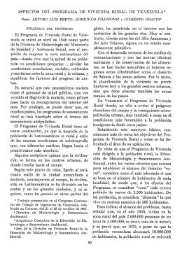 ASPECTOS DEL PROGRAMA DE VIVIENDA RURAL DE