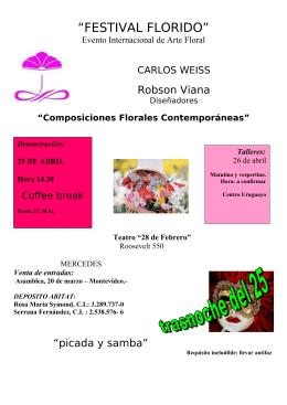 """""""FESTIVAL FLORIDO"""" - garden club de uruguay"""