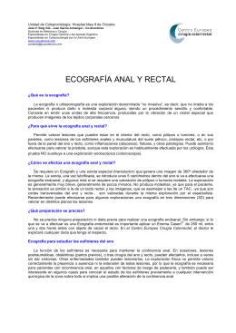ECOGRAFÍA ANAL Y RECTAL - Centro Europeo Cirugía Colorrectal