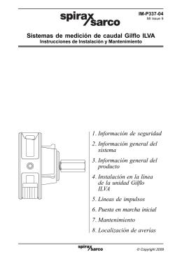 Sistemas de Medición de Caudal Gilflo ILVA