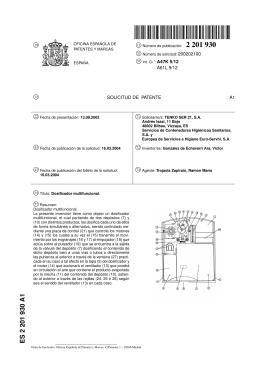 DOSIFICADOR MULTIFUNCIONAL.(ES2201930)
