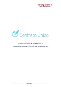 Condiciones Generales del Contrato Único