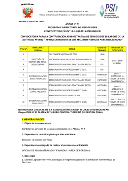 CAS 2015 - Programa Subsectorial de Irrigaciones