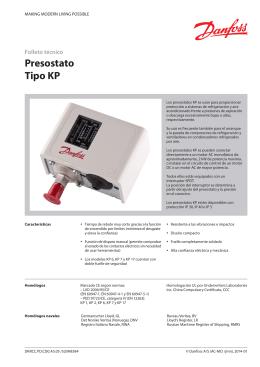 Presostatos KP danfoss - Blog refrigeracion SIMEC