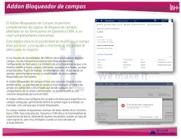 Ilustración 1: pantalla de configuración de Bloqueo de Campos