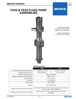 FX30 & FX35 FLUID PUMP ASSEMBLIES
