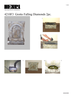 4210F3 Grotto Falling Diamonds 2pc.