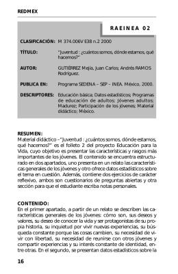 2. Juventud : ソCu  ntos - Biblioteca Digital CONEVyT