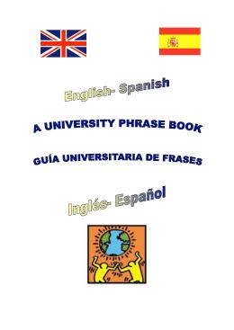 Libro de frases más comunes en la universidad Ingles