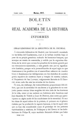 Obras lemosinas en la Biblioteca de El Escorial