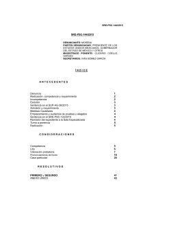 SRE-PSC-144/2015 Í N D I C E A N T E C E D E N T E S Denuncia 1