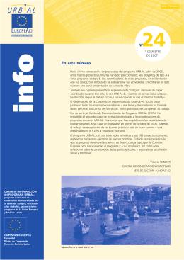 En este número - Centro de Documentación del Programa URB-AL