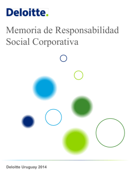 Memoria de Responsabilidad Social Corporativa