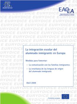 La integración escolar del alumnado inmigrante en Europa