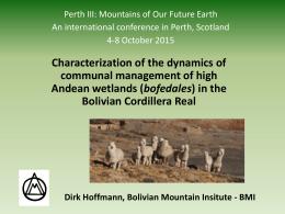 bofedales - Cambio Climático Bolivia