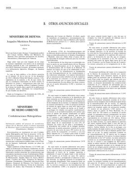 B. OTROS ANUNCIOS OFICIALES