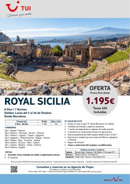 1.195€ ROYAL SICILIA