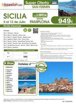 Sicilia Esencial - Viajes Itsaslur