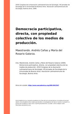 Democracia participativa, directa, con propiedad