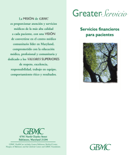 Servicio - Greater Baltimore Medical Center