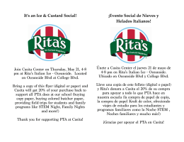 It`s an Ice & Custard Social! ¡Evento Social de Nieves y Helados