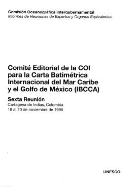 Comité Editorial de la COI para la Carta Batimétrica Internacional