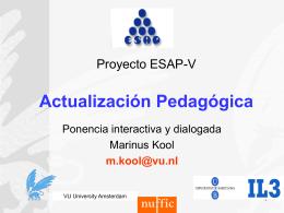 Ponencia Actualizacion Pedagogica Oct 11 ESAP M KOOL