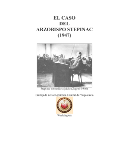 EL CASO DEL ARZOBISPO STEPINAC (1947)