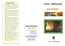 Folleto - Hotel Imperador