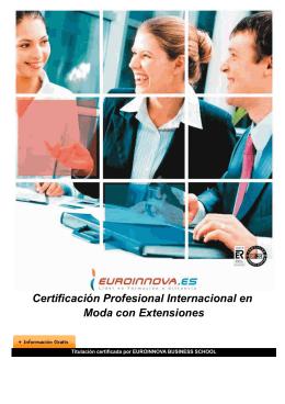 Certificación Profesional Internacional en Moda con Extensiones