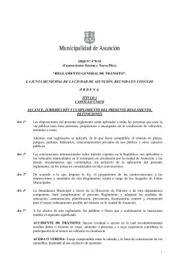 Reglamento General de Tránsito