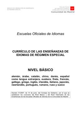Nivel Básico - Escuela Oficial de Idiomas de ALCORCÓN