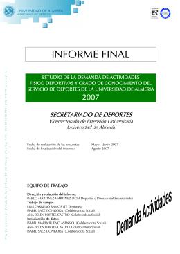 Informe estudio demanda 2007