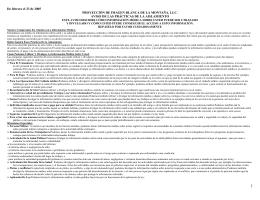 De febrero el 23 de 2005 PROYECCIÓN DE IMAGEN BLANCA DE