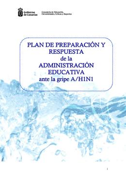 Plan de preparación y respuesta ante la gripe A/H1N1.