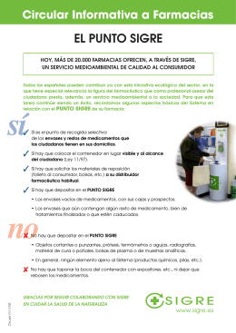 Circular Informativa a Farmacias 0103