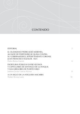 CONTENIDO - Revista Spondylus
