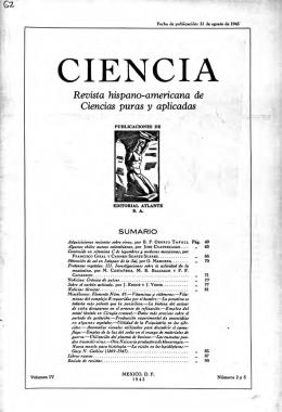 Revista hispano-americana de Ciencias puras y aplicadas