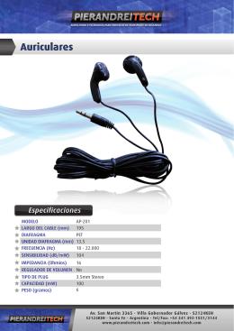 AP-201 Auriculares - folleto para web y mail