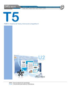 TEMA 5: Cuadros de Texto y Corrección ortográfica II