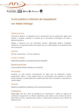 Curso práctico e intensivo de maquetación con Adobe InDesign