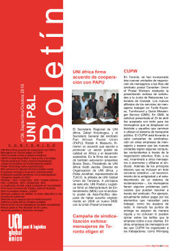 UNI P&L Global Bulletin N°8 2010 -SP.pub