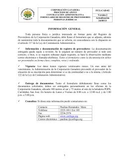 Documento para la Inscripción de Proveedores Jurídicos