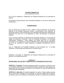 ACUERDO NÚMERO 324 - Universidad de Boyacá