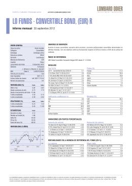 LO FUNDS - CONVERTIBLE BOND, (EUR) R