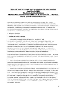 VS-NfD-Merkblatt Spanisch